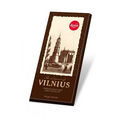 Šokoladas juodasis Vilnius 100g