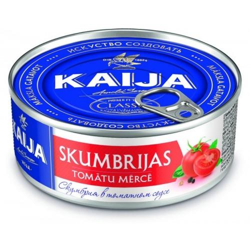 Skumbrė pomidorų padaže Kaija Eo 240g