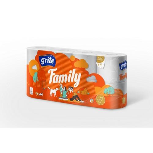 Tualetinis popierius Grite Family 8vnt