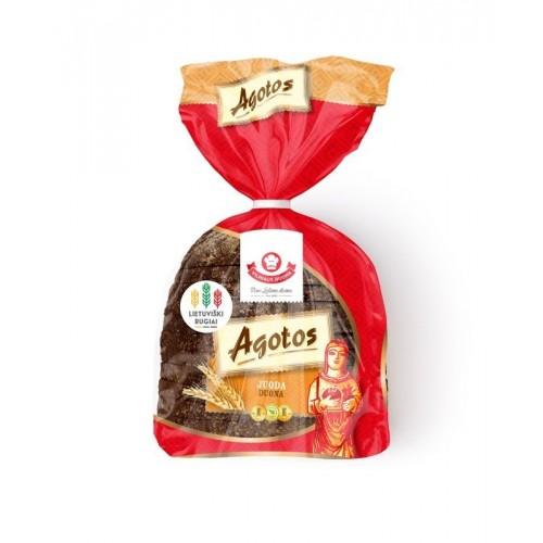 Duona Agotos ruginė tamsi pjaustyta 375g
