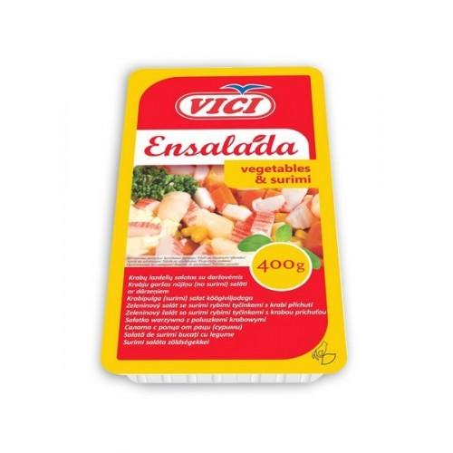 Krabų lazdelių salotos Ensalada su daržov.,400g