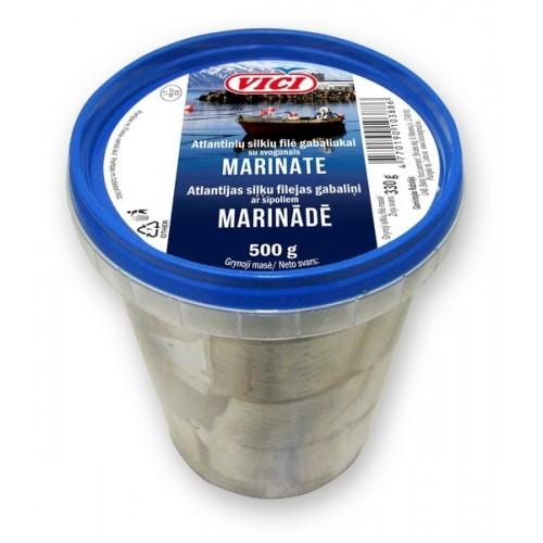 Silkių filė gab.Viči su marin.svogūnais marinate,500g