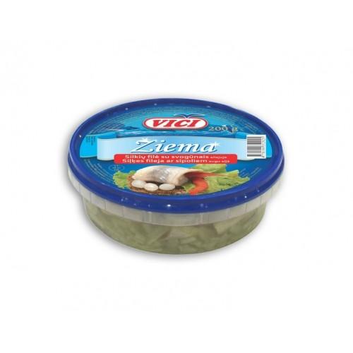 Silkių filė Žiema su svogūnais aliej.,200g