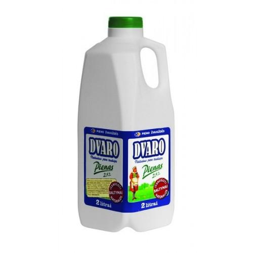 Pienas Dvaro 2,5% rieb., 2l pl.but.