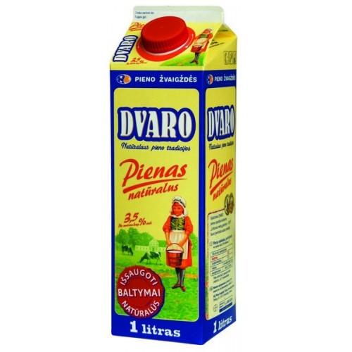 Pienas Dvaro 3,5% rieb., 1l t-rex su kamšt.