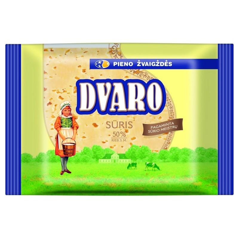 Sūris fermentinis Dvaro 50% r.s.m.,240g