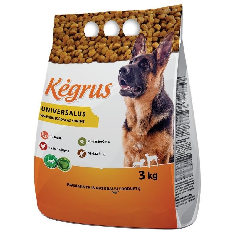 Ėdalas šunims Kėgrus universalus,3kg