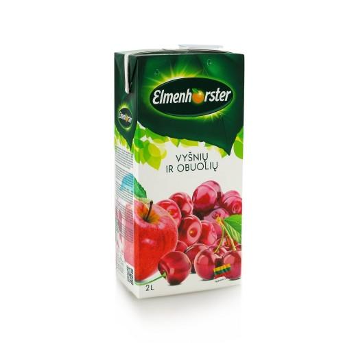 Sulčių gėrimas Elmenhorster Vyšnių ir obuolių 14 %,2l
