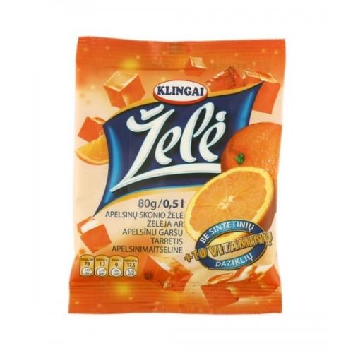 Želė Klingai apelsinų 80g
