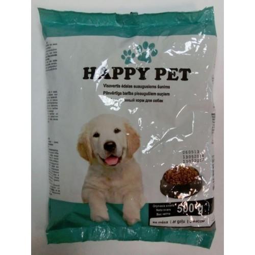 Ėdalas šunims Happy pet sausas, 0,5kg