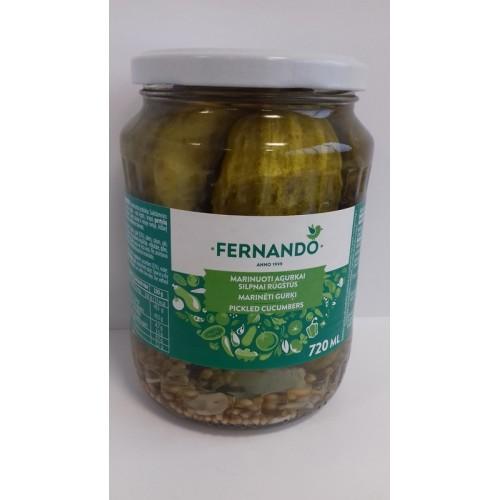 Agurkai konservuoti Fernando,720 ml