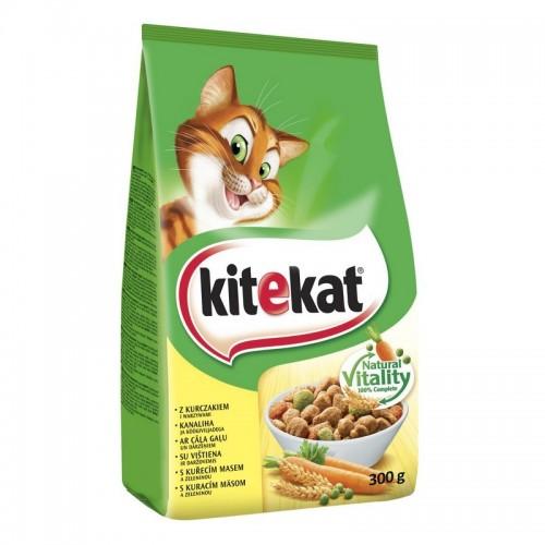 Ėdalas katėms sausas Kitekat su vištiena,300g