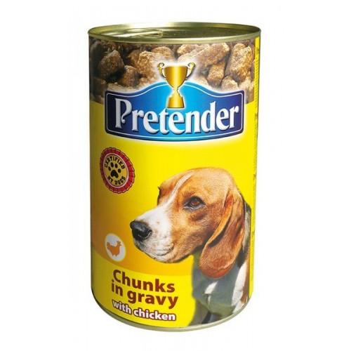 Ėdalas šunims konservuotas Pretender su vištiena,1250g