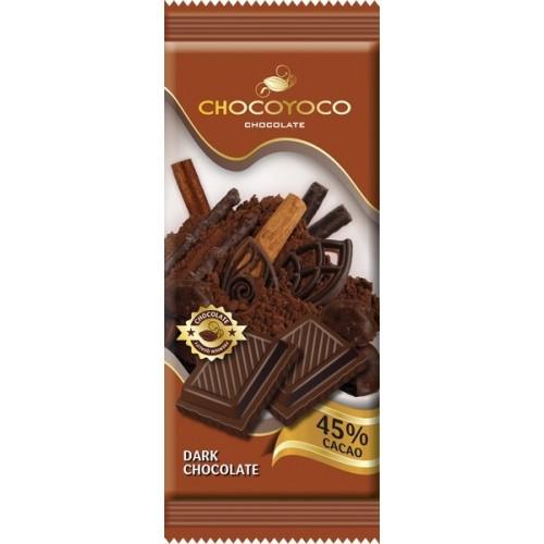 Šokoladas juodas Chocoyoco 45%,100g