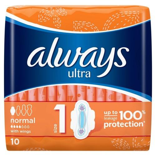 Higieniniai paketai Always Ultra Normal Plus 10vnt