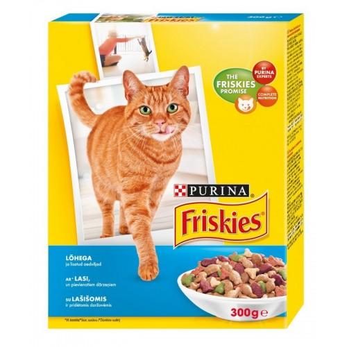 Ėdalas katėms sausas su lašiša daržovės Friskies 300g