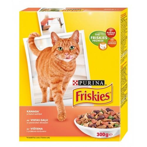 Sausas kačių ėdalas su vištiena daržovėmis Friskies 300g