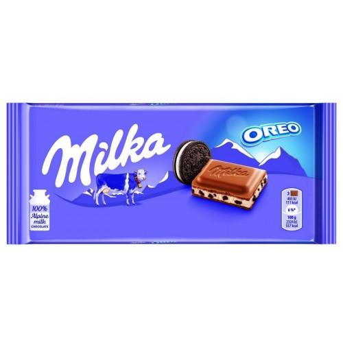 Šokoladas Milka su Oreo sausainiais,100g