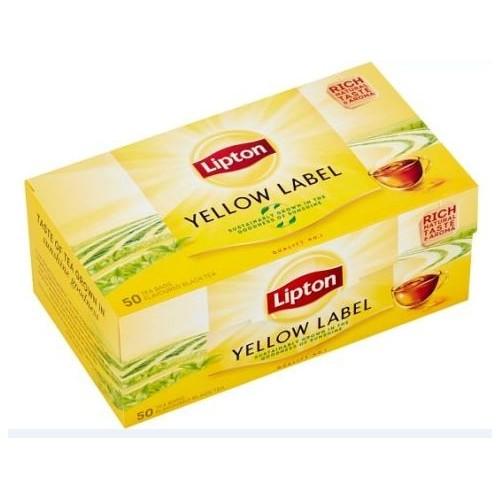 Juoda arbata LiptonYellow Label 50 pak.