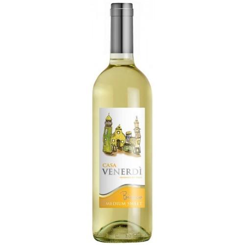 Vynas baltas Casa Venerdi I.G.T. 11% p.sald.,0,75l
