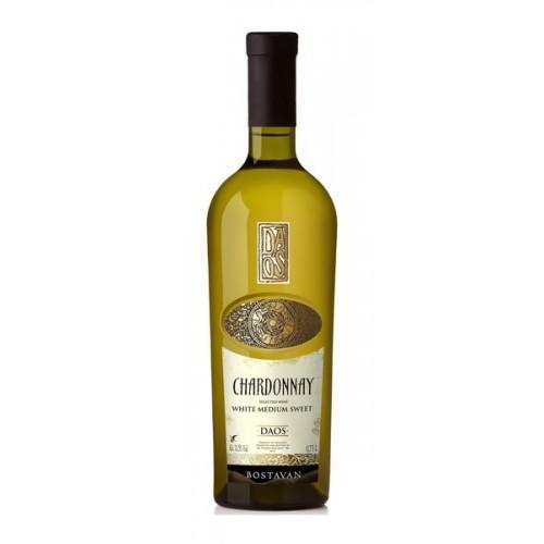 Vynas DAOS Chardonnay baltas p.saldus 12%, 750 ml