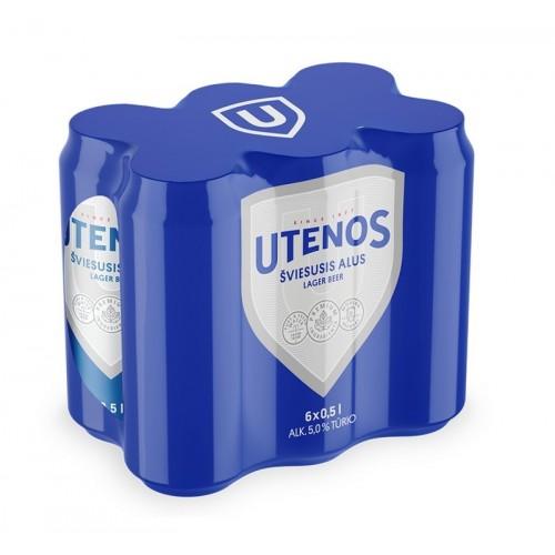 Alus Utenos šviesus 5% 6*0,5l MP6