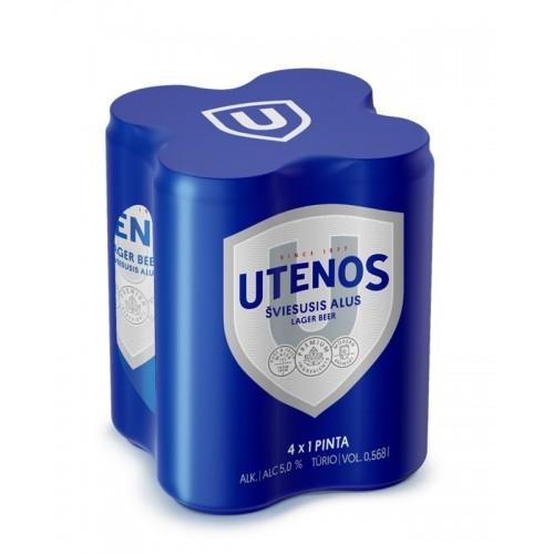 Alus Utenos Utenos skard. Pak 4x0,568L  5%