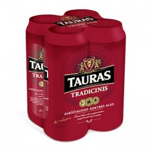 Alus Tauras tradicinis alk.6 % 4x0,5 l