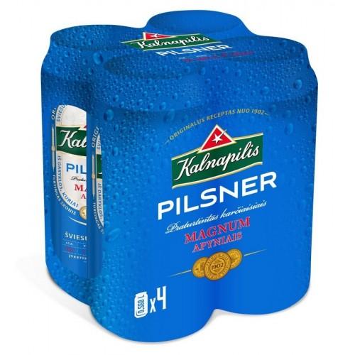 Alus Kalnapilis Pilsner, 4,6%, skard., 4x568 ml