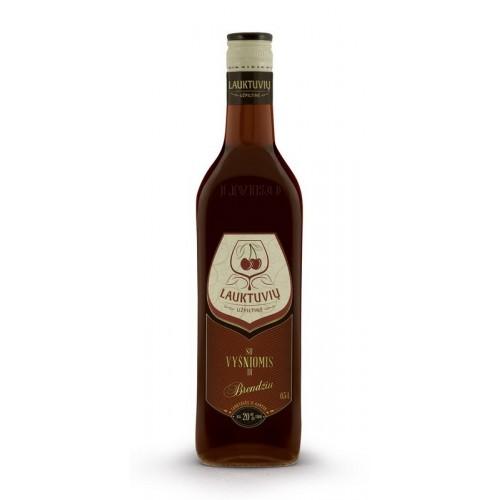 Spirituotas gėrimas Lauktuvių, vyšnios su brendžiu, 20%, 0,5 L
