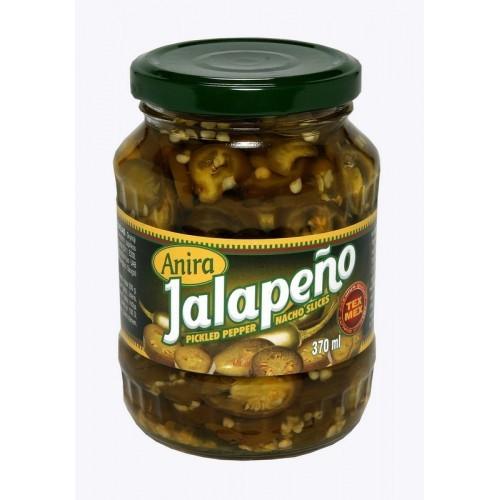 Aitriųjų paprikų griežinėliai Jalapeno Anira, 370 ml