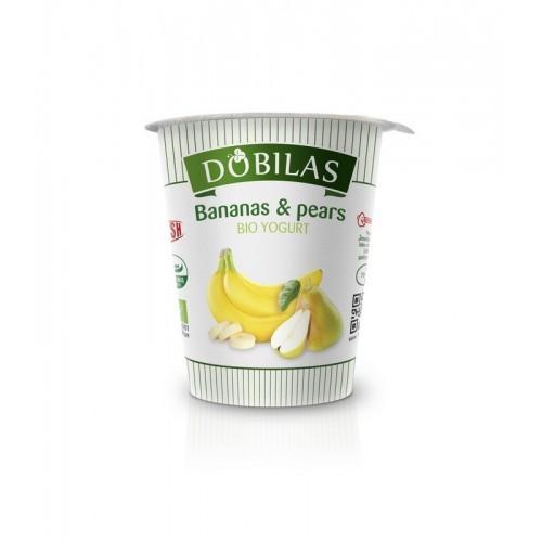 Jogurtas ekologiškas Dobilas su bananais ir kriaušėmis 2,5-3,5%rieb.,300g