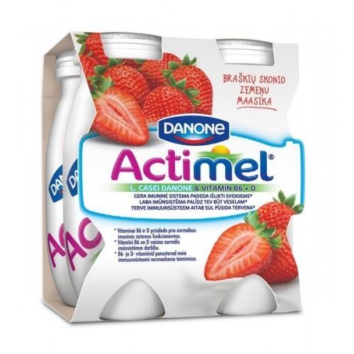 Jogurto gėrimas Actimel braškių sk. 400 g plast. ind.