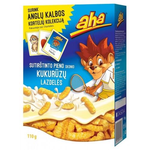 Kukurūzai Aha Sutiršt.pieno sk. 110g