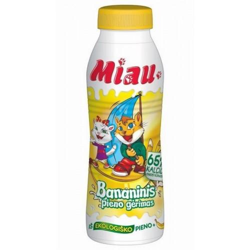 Pieno gėrimas Miau bananų sk. 2,3% iš ekologiško pieno,450ml