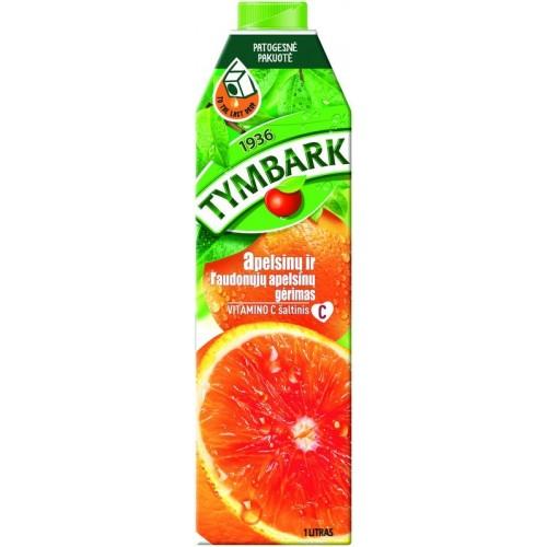 Raudonųjų Sicilijos apelsinų gėrimas Tymbark 1l