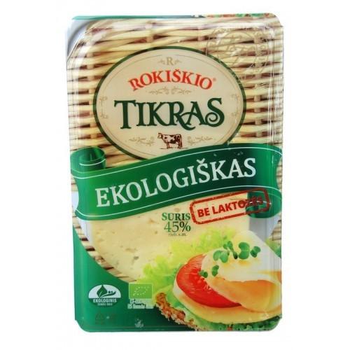 Sūris ekologiškas Rokiškio Tikras 45%r. riek. 150g