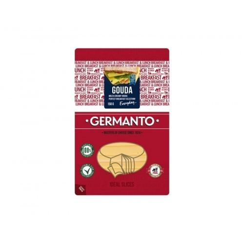 Sūris Germantas Gouda 45% rieb. 150 g poliamidas.polietilenas