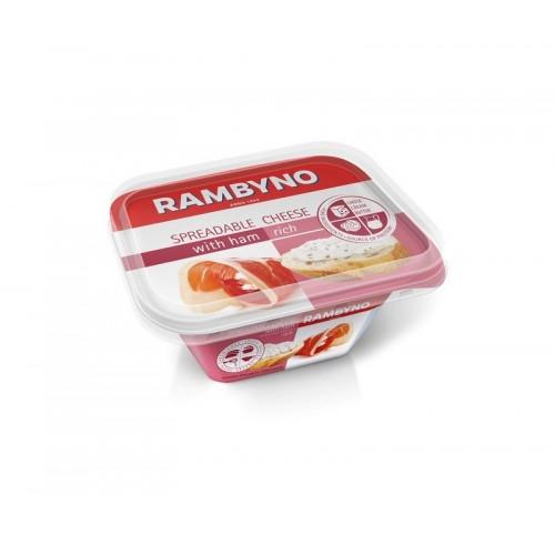 Sūris lydytas tepamas Žemaitijos su kumpiu 50% 175 g polistirenas.al