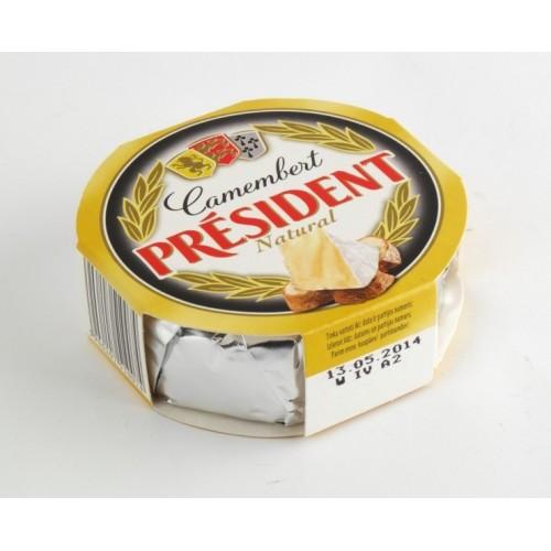 Sūris Pelėsinis President Camembert natūralus 120 g
