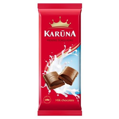 Šokoladas pieninis Karūna 90g