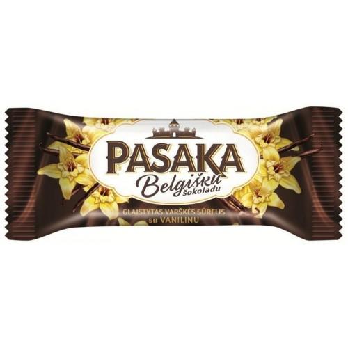 Varškės sūrelis Pasaka belg.šok.gl.23% su vanil. 50g