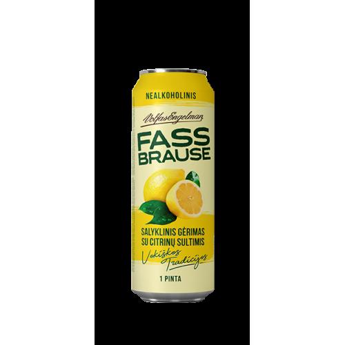 Gaivusis gėrimas Fassbrause citrinų sk. 568 ml