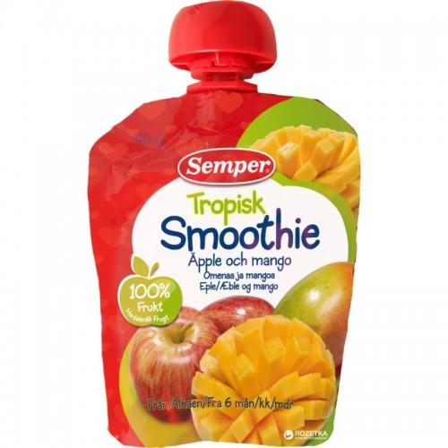 Tyrė geriamoji Semper Smoothie obuolių ir bananų,90g