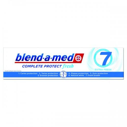 Dantų pasta Blend A Med Complete 7 extra Fresh Mouthwash 100 ml