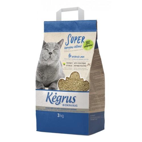 Biokraikas katėms Kėgrus augalinės kilmės,3kg