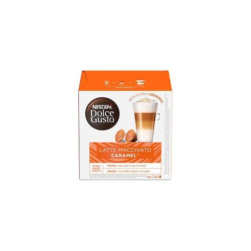 Kavos kapsulės Nescafe Dolce Gusto Latte Macchiato Caramel 16vnt 145.6g