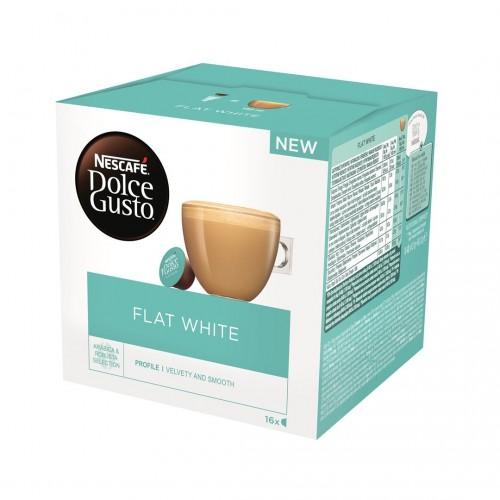 Kavos kapsulės Nescafe Dolce Gusto Flat White 16vnt 187.2g