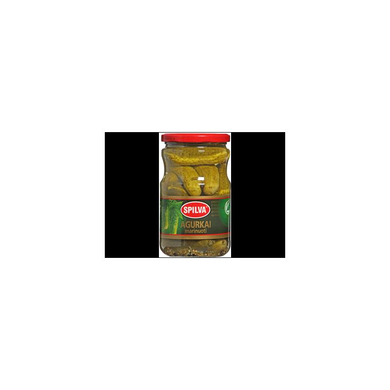 Agurkai marinuoti Spilva 1600(900)g