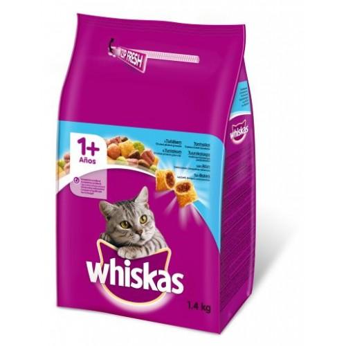 Sausas suaug. kačių ėdalas Whiskas su tunu 1,4 kg